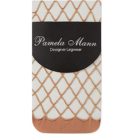 PAMELA MANN Net ankle socks (Natural