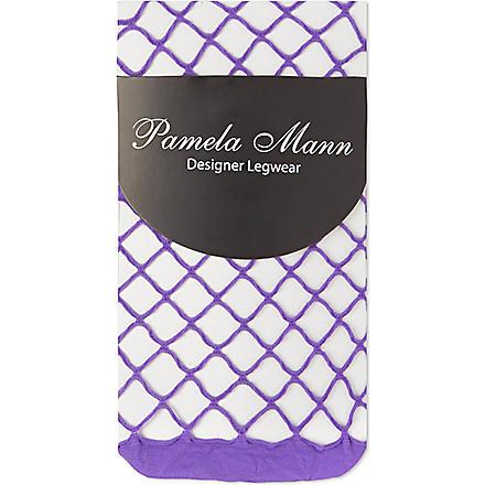 PAMELA MANN Net ankle socks (Purple