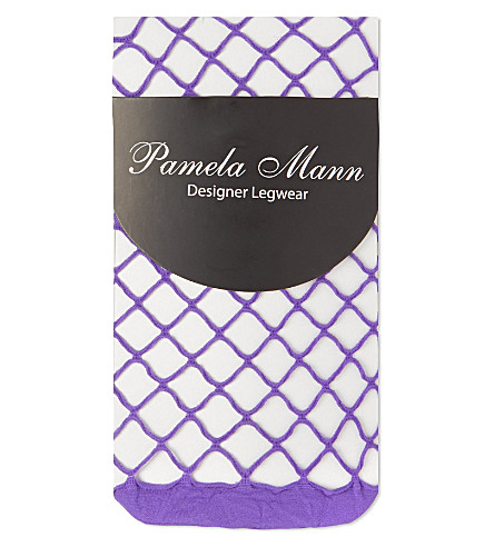 PAMELA MANN Net ankle socks (Purple