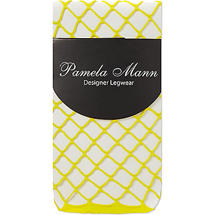 PAMELA MANN Net ankle socks (Yellow