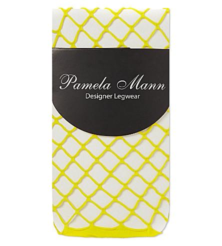 PAMELA MANN Net ankle socks (Yellow