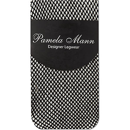 PAMELA MANN Fishnet ankle socks (Black