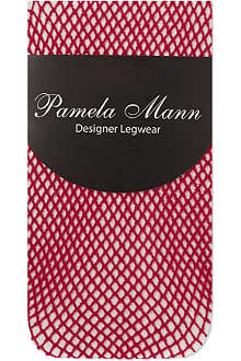 PAMELA MANN Fishnet knee high socks