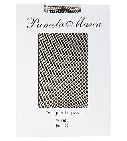 PAMELA MANN Fishnet hold-ups (Black