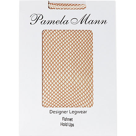 PAMELA MANN Fishnet hold-ups (Nude
