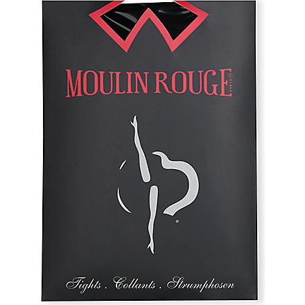 PAMELA MANN Moulin Rouge high heels seamed tights (Black