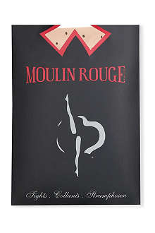 PAMELA MANN Moulin Rouge high heels dots tights
