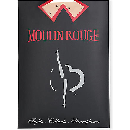 PAMELA MANN Moulin Rouge high heels dots tights (Natural/black