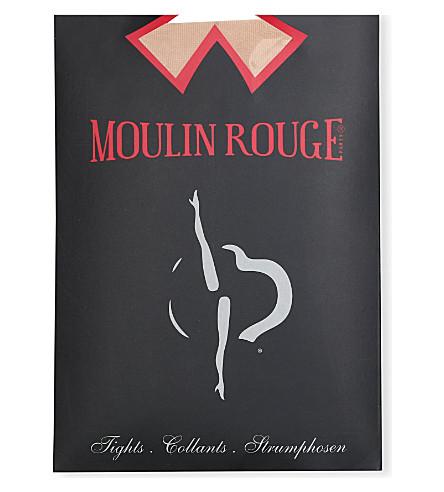 PAMELA MANN Moulin Rouge high heels seamed tights (Natural