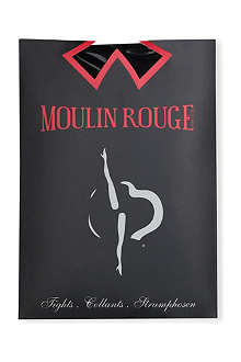 PAMELA MANN Moulin Rouge heart seam tights