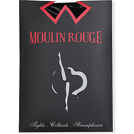 PAMELA MANN Moulin Rouge heart seam tights (Black