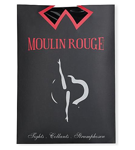 PAMELA MANN Moulin Rouge heart seam tights (Black