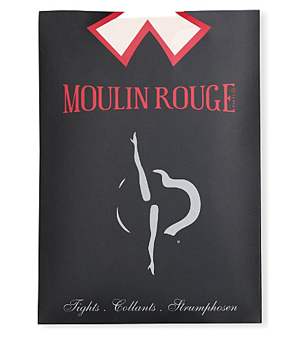 PAMELA MANN Moulin Rouge heart seam tights (White