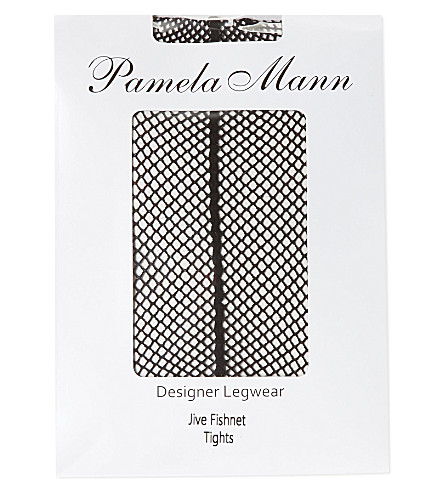 PAMELA MANN Jive fishnet tights (Black/black