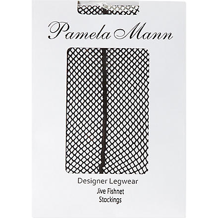 PAMELA MANN Jive fishnet stockings (Black/black