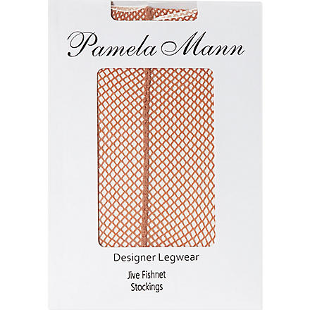 PAMELA MANN Jive fishnet stockings (Nude/nude