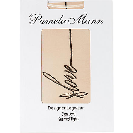 PAMELA MANN Love seamed tights (Nude