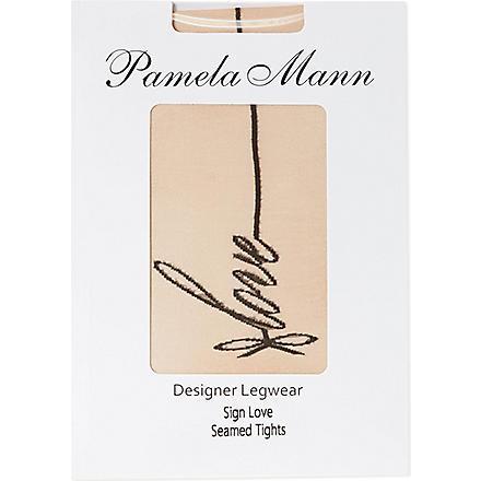 PAMELA MANN Love seamed tights (Nude