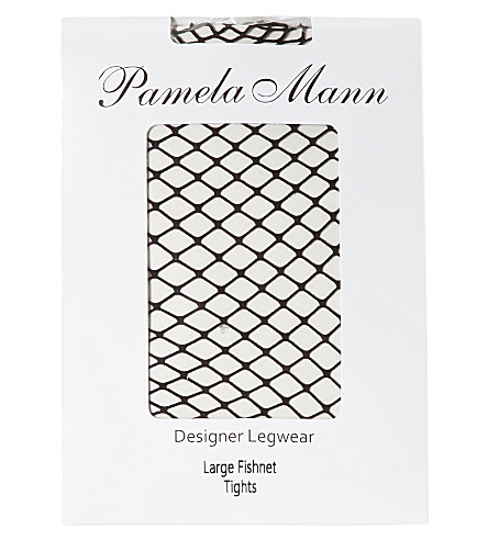 PAMELA MANN Fishnet tights (Black