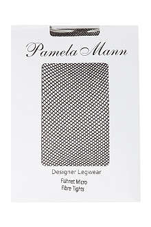 PAMELA MANN Fishnet microfibre tights