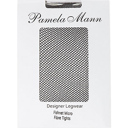 PAMELA MANN Fishnet microfibre tights (Black