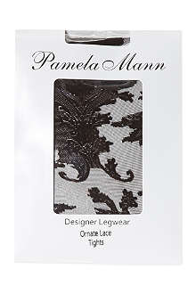 PAMELA MANN Ornate lace tights