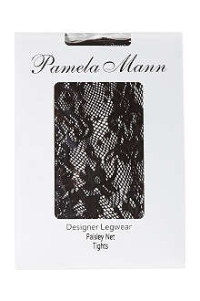 PAMELA MANN Paisley net tights