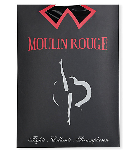PAMELA MANN Moulin Rouge plumetis dot tights (Black