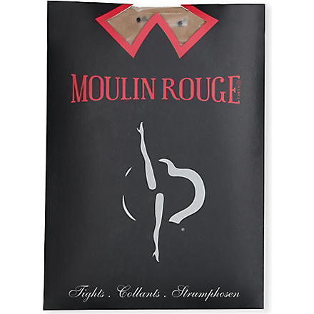 PAMELA MANN Moulin Rouge plumetis dot tights (Natural