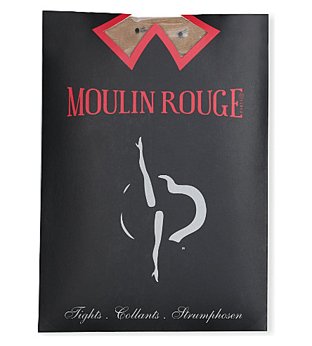 PAMELA MANN Moulin Rouge plumetis dot tights (Natural