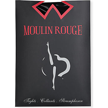 PAMELA MANN Moulin Rouge plumetis dot tights (Navy