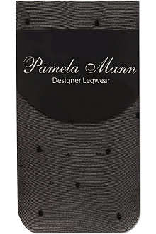 PAMELA MANN Sheer polka dot ankle socks