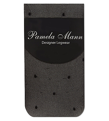 PAMELA MANN Sheer polka dot ankle socks (Dotty