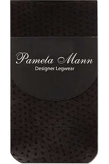 PAMELA MANN Sheer dotted ankle socks