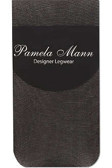 PAMELA MANN Sheer ribbed ankle socks