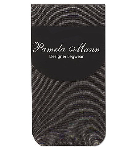 PAMELA MANN Sheer ribbed ankle socks (Plain w/frill