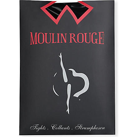 PAMELA MANN Moulin Rouge gold seamed tights (Silver