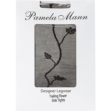PAMELA MANN Flower side tights (Black