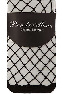 PAMELA MANN Knee high net socks