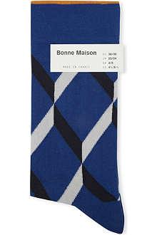 BONNE MAISON Argyle ankle socks