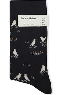 BONNE MAISON Bird ankle socks