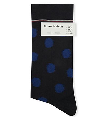 BONNE MAISON Polka-dot ankle socks (Black/multi