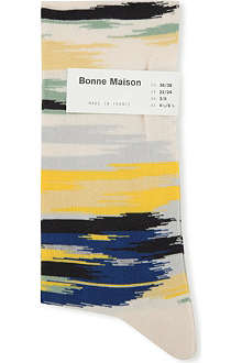 BONNE MAISON Ikat ankle socks
