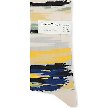 BONNE MAISON Ikat ankle socks (Multi-coloured