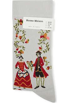 BONNE MAISON Floral character ankle socks