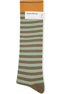 BONNE MAISON Striped long socks