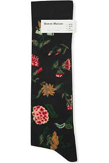 BONNE MAISON Floral long socks