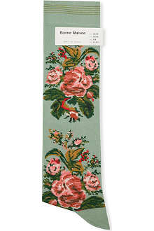 BONNE MAISON Tapestry-bouquet long socks