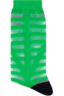 ALTO MILANO Short striped socks