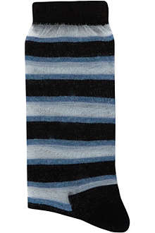 ALTO MILANO Sheer striped socks
